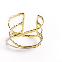 christina jervey jewelry cuff bracelet gold jewelrydesign crossover