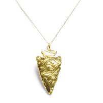 christina_jervey_jewelry_gold_large_arrowhead_pendant_necklace