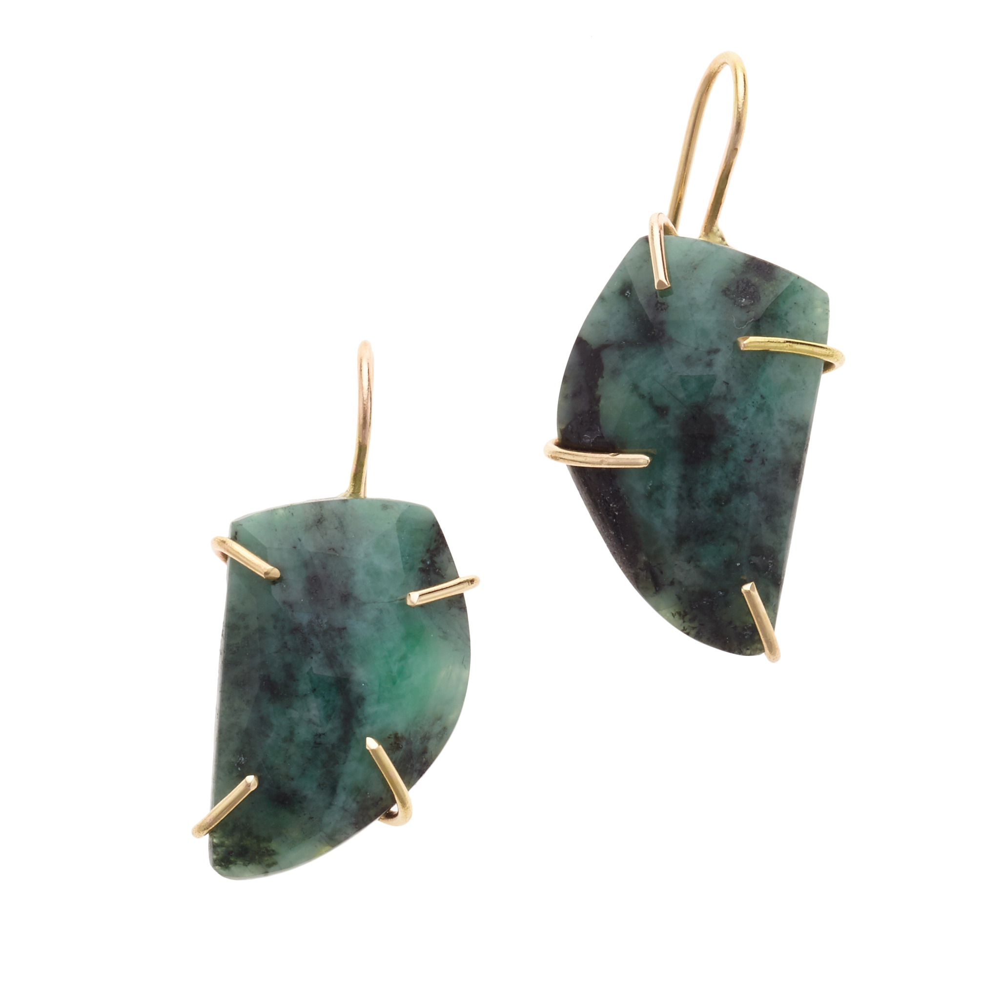 with snowflake centers products emerald mariacanale earring jewellery earrings